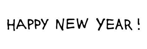 Texte de bonne année pour la carte de voeux Conception de vacances de vecteur sur le fond blanc Image libre de droits