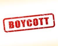 Texte de boycott protégé illustration libre de droits