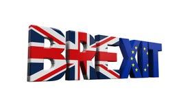 Texte de Brexit Images libres de droits