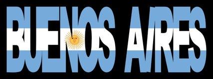 Texte de Buenos Aires avec l'indicateur illustration stock