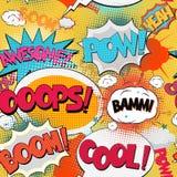 Texte de bulle de bande dessinée Photographie stock libre de droits