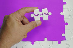 Texte de coût des ventes - concept d'affaires Photos libres de droits