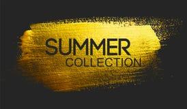 Texte de collection d'été sur la brosse d'or illustration de vecteur