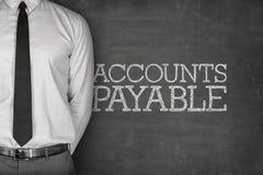 Texte de comptes à payer sur le tableau noir Photo stock