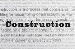 Texte de conception de construction Image libre de droits
