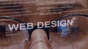 Texte de conception web sur le programmateur de logiciel femelle banque de vidéos