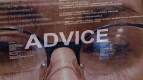 Texte de conseil sur le fond du promoteur femelle banque de vidéos