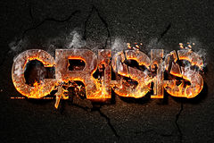 Texte de crise Image stock
