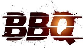 Texte de dessin de gril de BBQ Images libres de droits