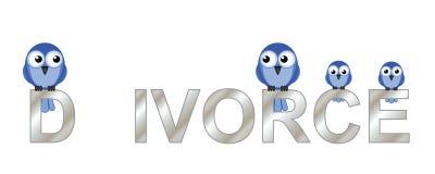 Texte de divorce Images libres de droits