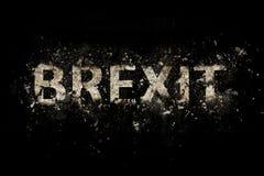 Texte de explosion de Brexit photo stock