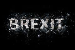 Texte de explosion de Brexit images stock