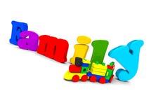 Texte de famille Image libre de droits