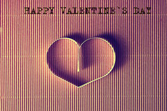 Texte de forme de coeur heureux Photos stock