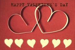 Texte de forme de coeur heureux Photographie stock libre de droits