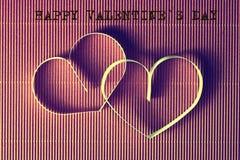 Texte de forme de coeur heureux Images libres de droits
