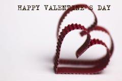 Texte de forme de coeur heureux Photo libre de droits