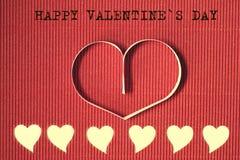 Texte de forme de coeur heureux Image stock