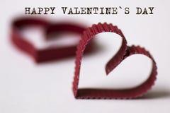 Texte de forme de coeur heureux Photo stock