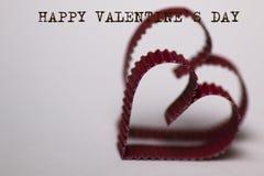 Texte de forme de coeur heureux Images stock