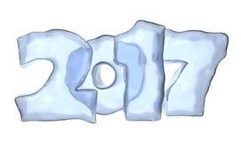 Texte de glace de 2017 bonnes années illustration de vecteur