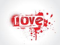 Texte de grunge d'amour Photos libres de droits