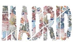 Texte de grunge d'euro de Madrid illustration de vecteur
