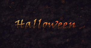 Texte de Halloween se dissolvant dans la poussière pour baser Image stock