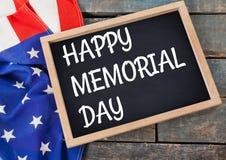 Texte de Jour du Souvenir avec le drapeau des Etats-Unis Image libre de droits