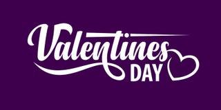 Texte de jour de valentines illustration stock