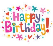 Texte de joyeux anniversaire illustration libre de droits