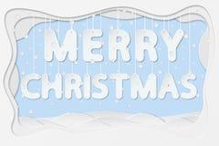 Texte de Joyeux Noël Photographie stock libre de droits