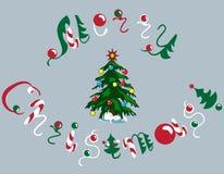Texte de Joyeux Noël Photographie stock