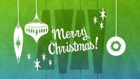 Texte de Joyeux Noël avec la décoration de Noël clips vidéos