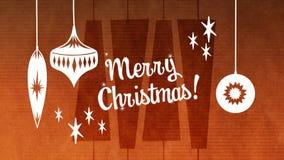 Texte de Joyeux Noël avec la décoration de Noël banque de vidéos