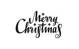 Texte de Joyeux Noël de conception typographique Calligraphie de Noël Lettrage tiré par la main illustration de vecteur