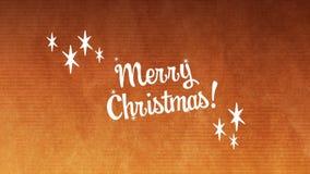 Texte de Joyeux Noël contre des mains grillant le verre de vin banque de vidéos