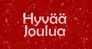 Texte de Joyeux Noël dans finlandais Photographie stock libre de droits