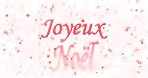 Texte de Joyeux Noël en français Photos stock