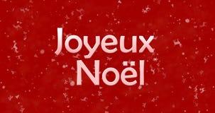 Texte de Joyeux Noël en français Image stock