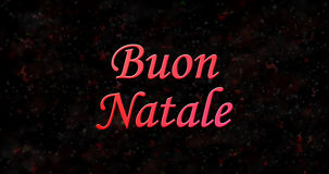 Texte de Joyeux Noël en italien Photo libre de droits