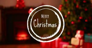 Texte de Joyeux Noël et décorations 4k de Noël banque de vidéos