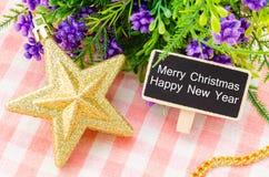 Texte de Joyeux Noël et de bonne année Photos libres de droits