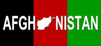 Texte de l'Afghanistan avec la carte Photos libres de droits