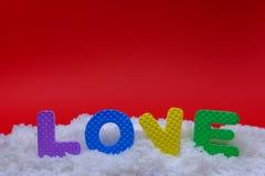 Texte de l'amour Photo libre de droits
