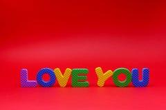 Texte de l'amour vous Images libres de droits
