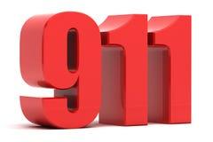 911 texte de l'appel d'urgence 3d Image stock