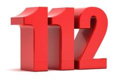 112 texte de l'appel d'urgence 3d Images stock