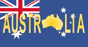 Texte de l'Australie avec la carte illustration libre de droits