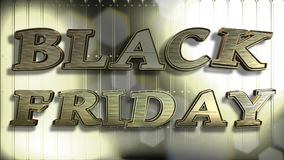 Texte de l'or 3D de Black Friday illustration stock